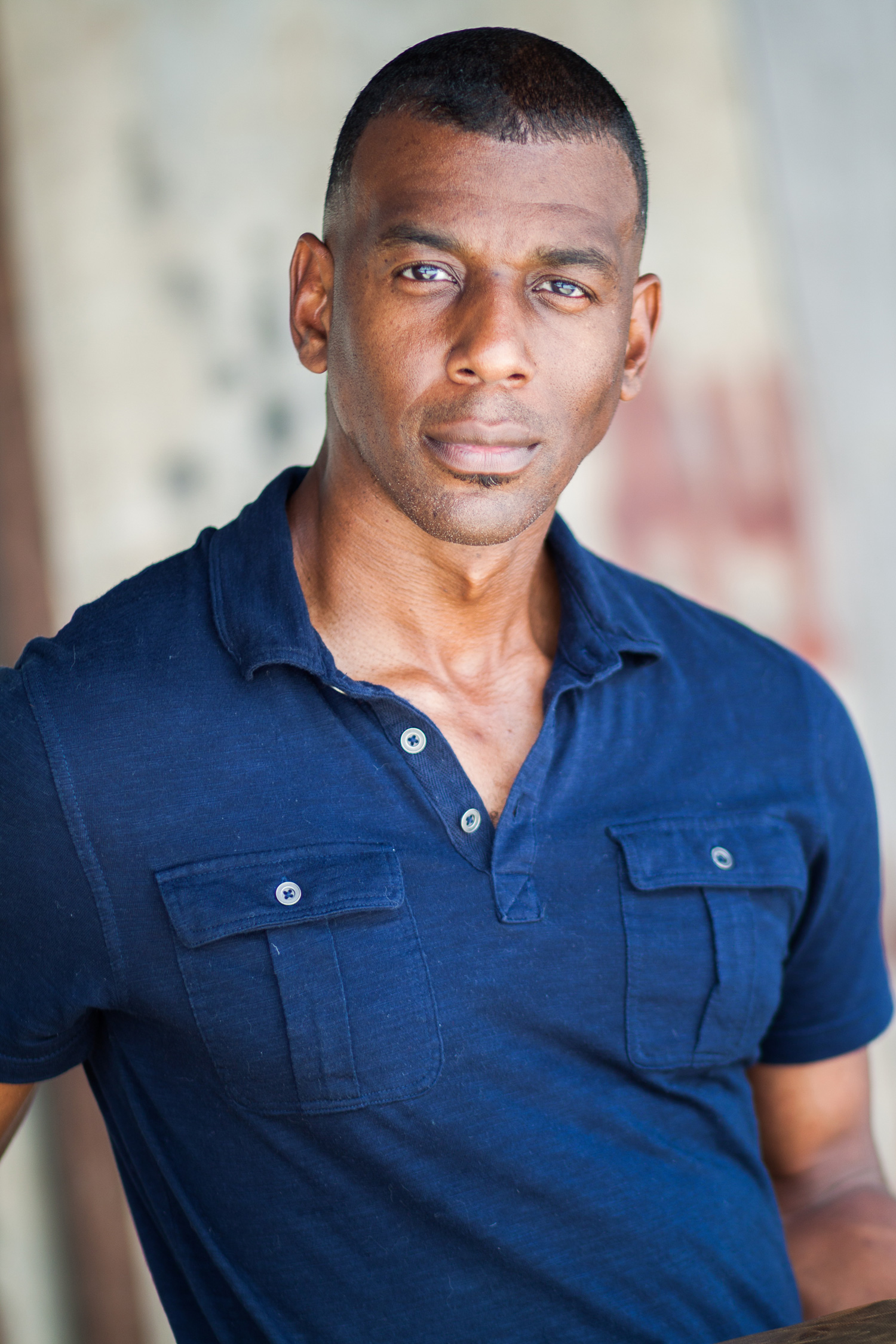 Headshot of African American male model and entertainer
