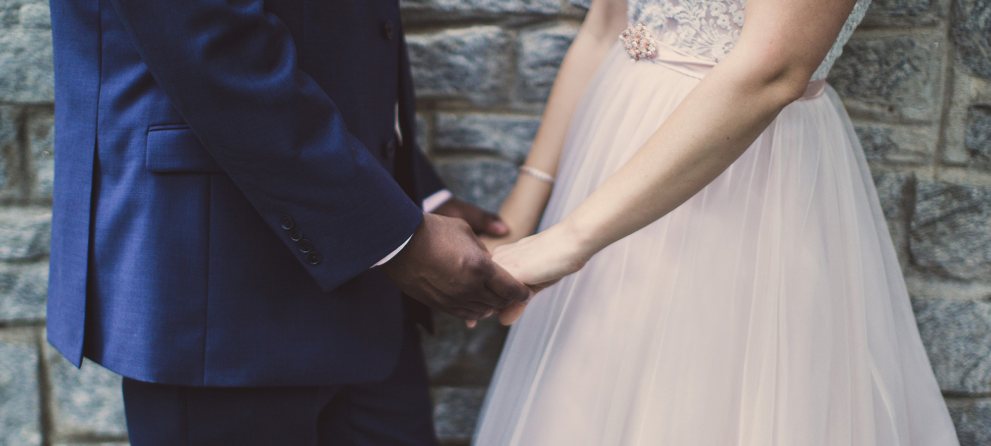 Photo of a wedding couple